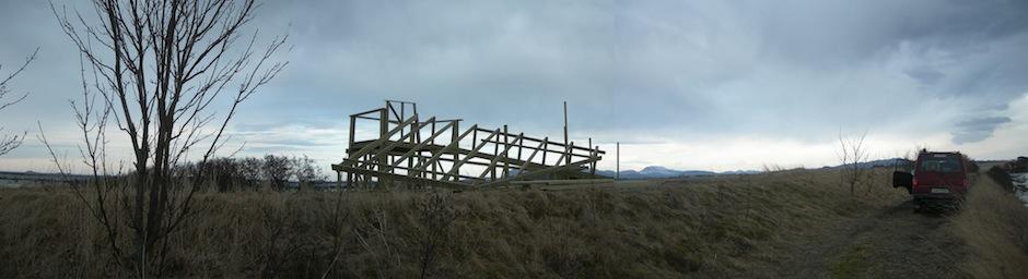 Bygging Grandefjæra Amfi fuglekikkertårn 1